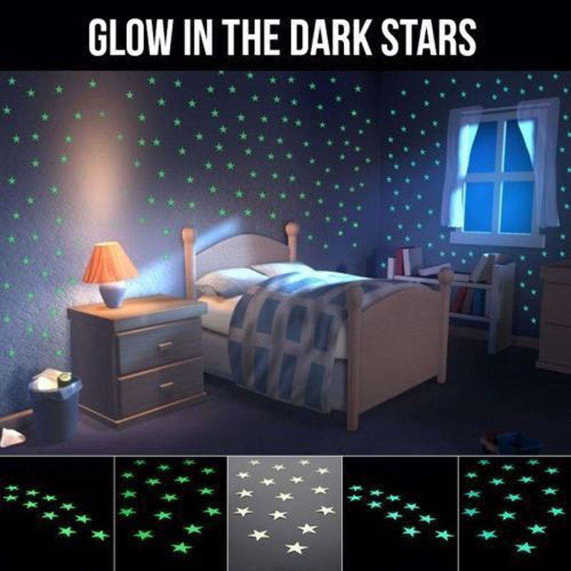 por kids wall lights lots. New 100Pcs/Lots Wall Sticker Art For Kids Rooms Home Decor Glow In The Dark Star Decal Baby Nursery Room-in Stickers From \u0026 Garden On Por Lights Lots D