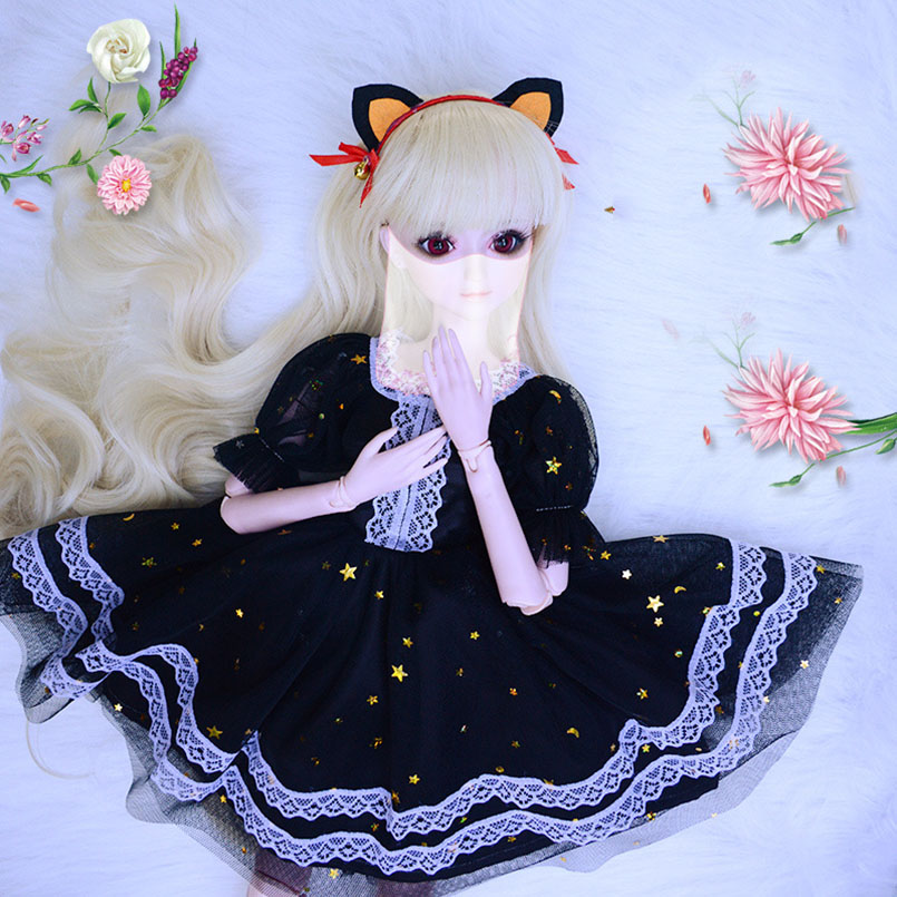 Apaffa 60cm Fashion <font><b>Clothes</b></font> For Dolls <font><b>Bjd</b></font> <font><b>1/3</b></font> Doll <font><b>Clothes</b></font> Accessories Toys DIY <font><b>1/3</b></font> Beautiful Girl <font><b>Clothes</b></font> For High <font><b>Bjd</b></font> Dolls image