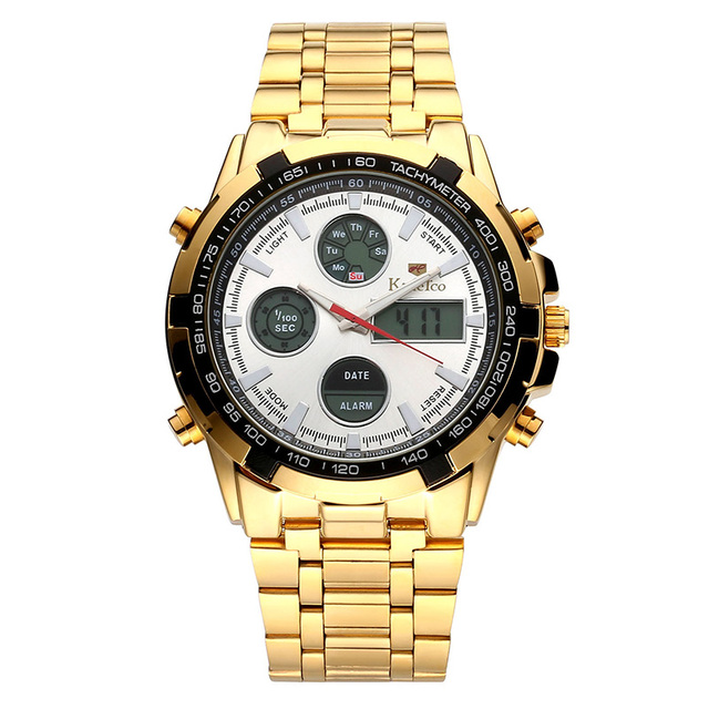Waterproof Gold Stainless Watch 6