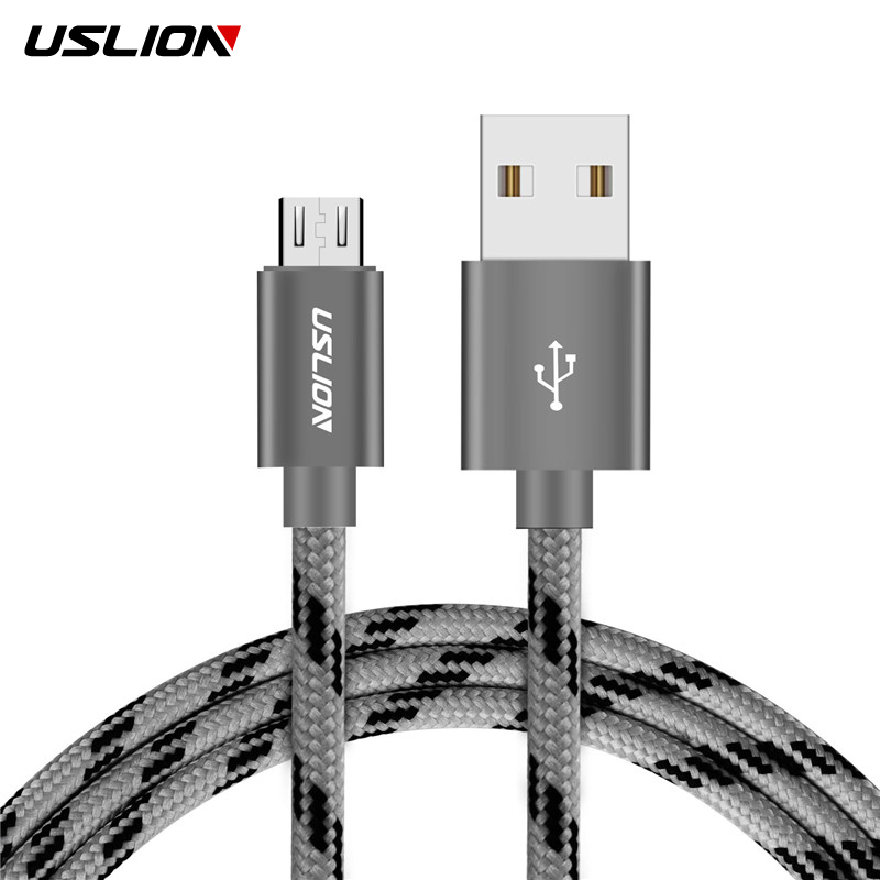 USLION Micro Android USB Cable For Samsung Xiaomi Huawei SONs