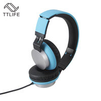 Fashion TTLIFE Brand Over Ear Foldable Bass Headphone Noise Isolation Headset Wired Headphone With Mic For