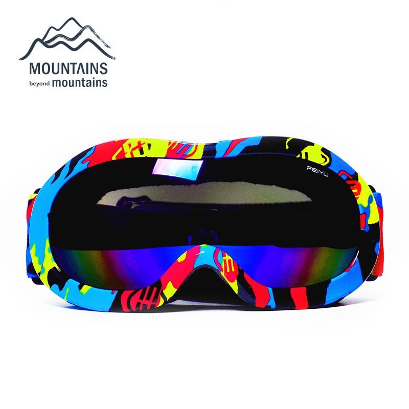 Prix pour Professionnel Enfants Ski Goggle Coloré Anti-Brouillard Anti-UV Enfants Ski Lunettes Lunettes De Neige Marque Double Lentille Ski Lunettes Lunettes