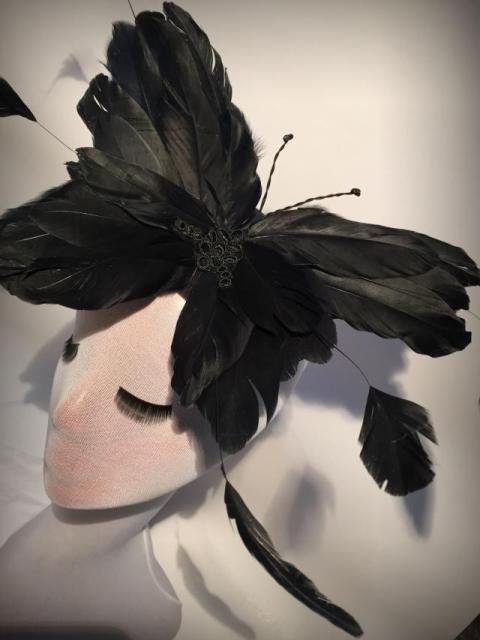 Unique Alice Feather Hat Headpiece Fascinator Party Races Stage Hair Accessories