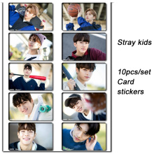 10pcs/set Stray kids KPOP photo cards stickers album sticky adshesive kpop lomo card photocard sticker SKD00708