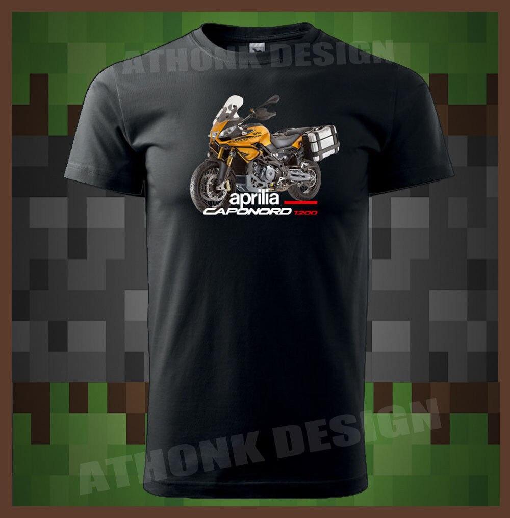 T-Shirt Men 2019 New Print Men T-Shirt Summer New Italy Classic Motorcycle Motorrad Caponord 1200 Men'S T-Shirt Nerd T-Shirts