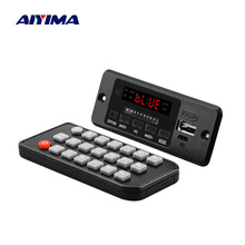 AIYIMA 5V Bluetooth MP3 Audio Decoder Board With 3W*2 Amplifier MP3 Player AUX FM Hands free Calling