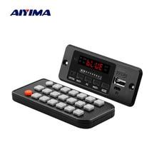 AIYIMA placa decodificadora de Audio MP3 con Bluetooth, amplificador de 3W x 2, reproductor MP3, AUX, FM, llamadas manos libres, 5V