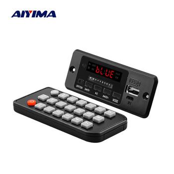 Płytka dekodera Audio AIYIMA 5V Bluetooth MP3 z 3W * 2 wzmacniaczem odtwarzacz MP3 AUX FM połączenia głośnomówiące tanie i dobre opinie Zasilanie zewnętrzne Radio FM 10 godzin Brak decoder board Dotykowy Tone Z tworzywa sztucznego Dysk twardy