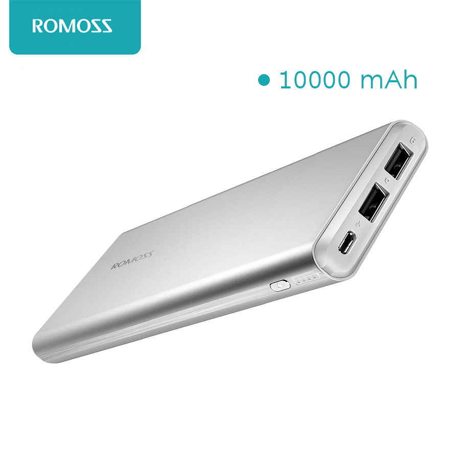 imágenes para GT1 ROMOSS banco de la energía 10000 mAh portátil móvil poderes salidas dual usb para smartphones ordenadores de mesa batería powerbank 100% original