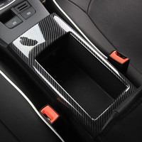 Carbon Fiber Color Central Armrest Storage Box Panel Cover Trim For Audi A3 8V 2014 2018 ABS Car Styling Interior Accessories