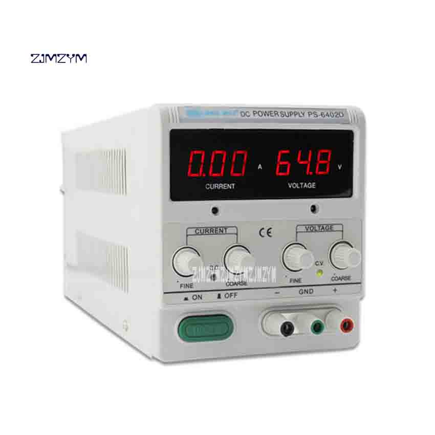 ZJMZYM PS-6402D 3LED Digital Display DC Power Supply High Performance Adjustable Switching DC Power Supply 0-64V 0-2A Hot Sale cps 6011 60v 11a digital adjustable dc power supply laboratory power supply cps6011