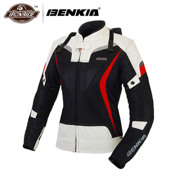 BENKIA Women Motorcycle Jacket Motorbike Racing Jackets Moto Jacket Jaqueta Motoqueiro Protective Gear Riding Clothing Female