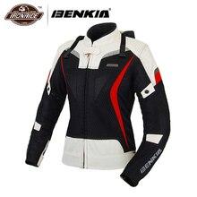 BENKIA Women Motorcycle Jacket Motorbike Racing Jackets Moto Jacket Jaqueta Motoqueiro Protective Gear Riding Clothing Female
