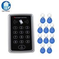 Plastic RFID Standalone Access Control System Digital Keypad 10pcs Keyfobs RFID Tag For Opening Door Lock