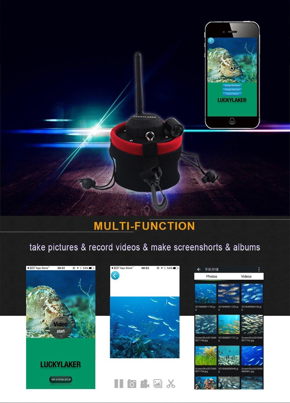 Sorte wi fi subaquática câmera de pesca