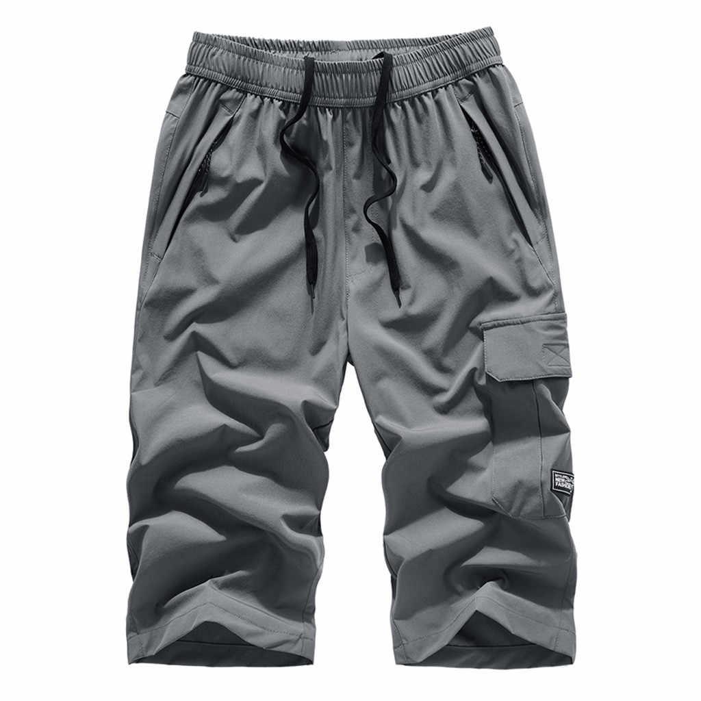 Повседневные мужские брюки уличные тонкие быстросохнущие тонкие рекреационные спортивные капри брюки пляжные брюки высокое качество и удобные 5,13