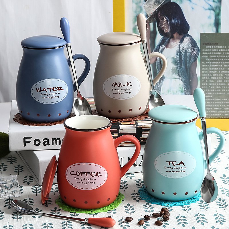 2017 Hot Porcelain Afternoon Tea Cups Ceramic Mugs With Lid Coffee Tea Water Bottle Unique Gift Home Cafe With Spoon