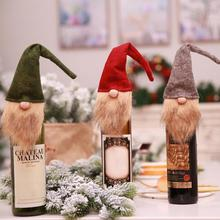 New Christmas Bottle Wine Cover Santa Claus Red Wine Bottle Wrapper Holiday Bott