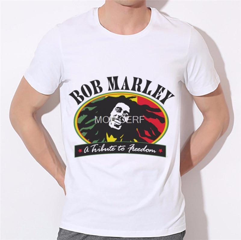 7e48728d11 Novo Estilo Casual Homens Camiseta 3D Impressão Digital de Manga Curta Bob  Marley Hot Summer Tops Europeia breaking bad 14-20
