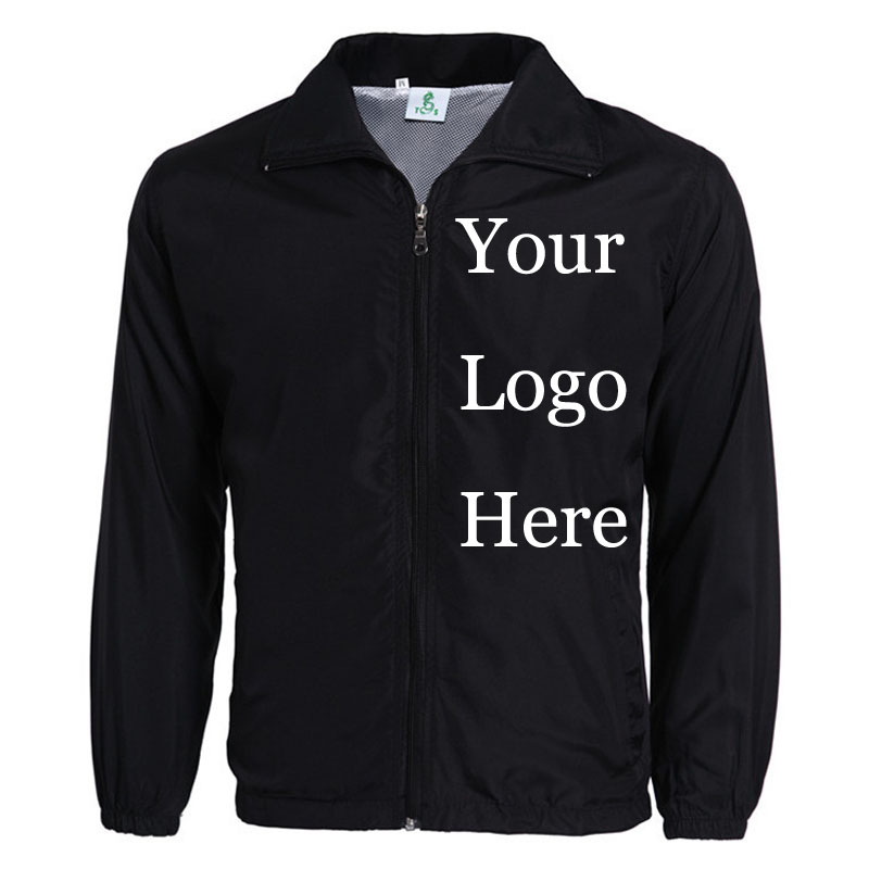 Custom Jacket Windbreaker DIY Printing Embroidery LOGO Designer Photos Thin Wind Proof Coat Jackets Advertisement Drop Shipper