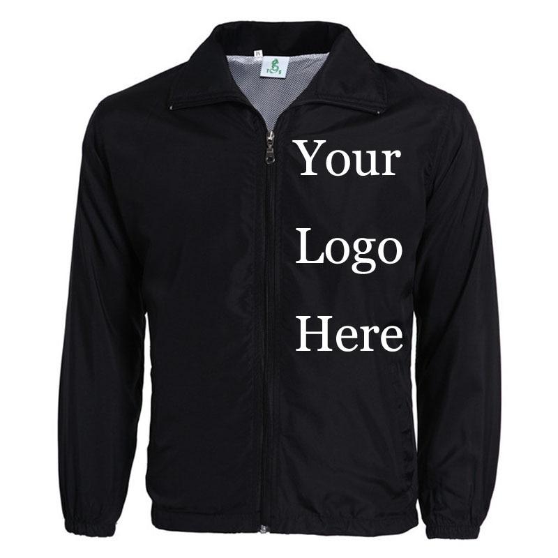Custom Jacket Windbreaker DIY Printing Embroidery LOGO Designer Photos Thin Wind Proof Coat Jackets Advertisement Drop Shipper
