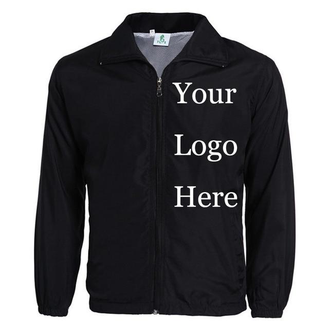 Veste coupe vent personnalisée, impression de Photos avec LOGO avec broderie de styliste, manteau mince coupe vent, publicité, livraison directe