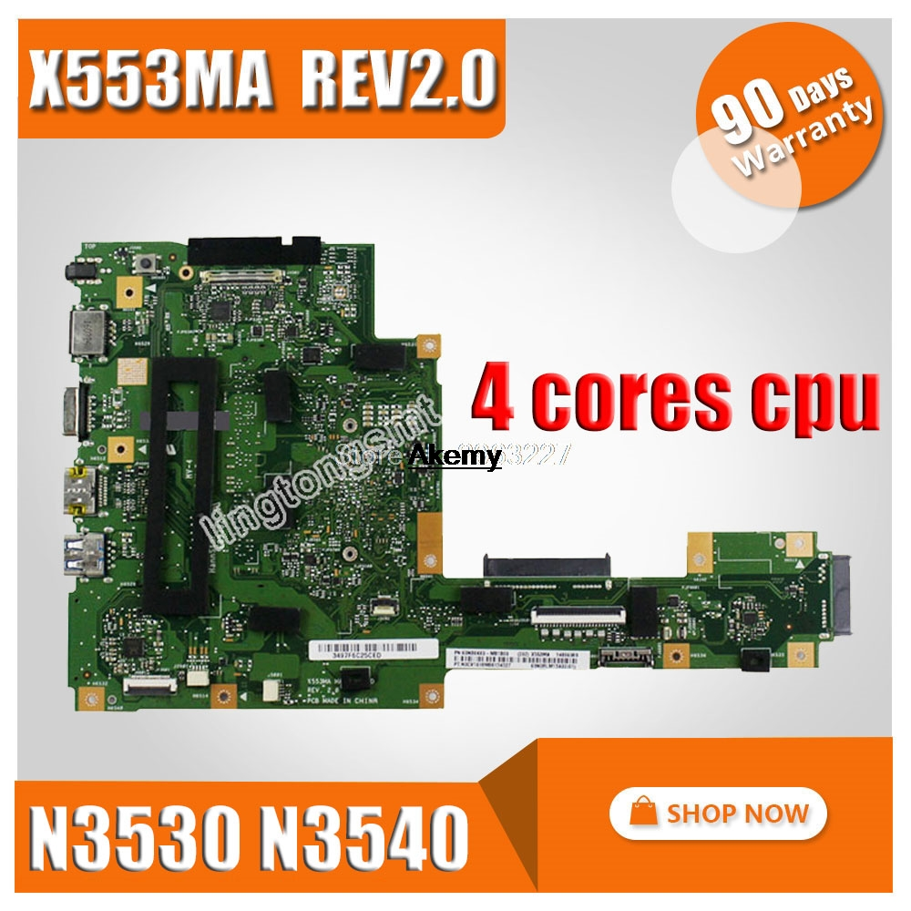 X553MA Laptop Motherboard Mainboard ASUS A55 for A553m/D553m/F553m/.. N3530