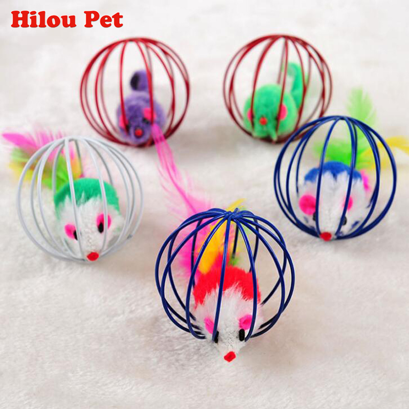 2pcs Pet Cat Toy Mouse Ball Lovely Kitten Funny Play Toys Mouse Ball Best Gift For Pet Cats