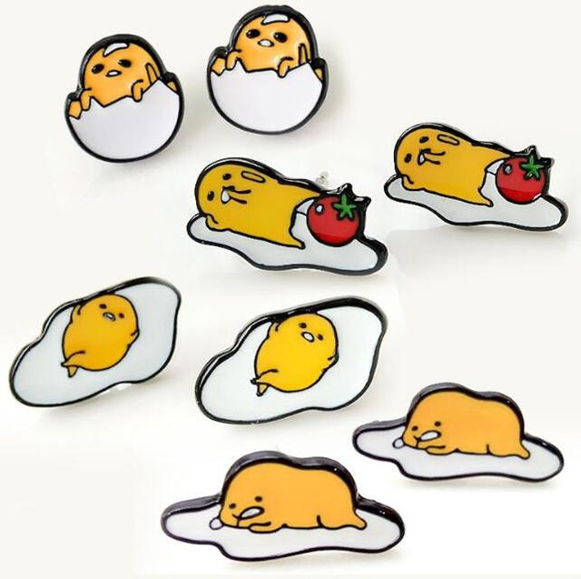 Awesome Egg Cartoon Part - 13: New 12 Pairs Cartoon Mix Japanese Anime Egg Earings Cartoon Women Girl  Children Kids Lovely Gifts