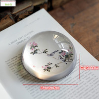 Free Shipping Journey To The Crystal Paperweight Glass Bird Ornaments Married Chinese Style Decoration Desk