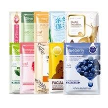 HanChan 10Pcs/Lot sheet mask Skin Care Plant Facial Mask Moisturizing Oil Control Blackhead Remover Wrapped Mask Face Mask