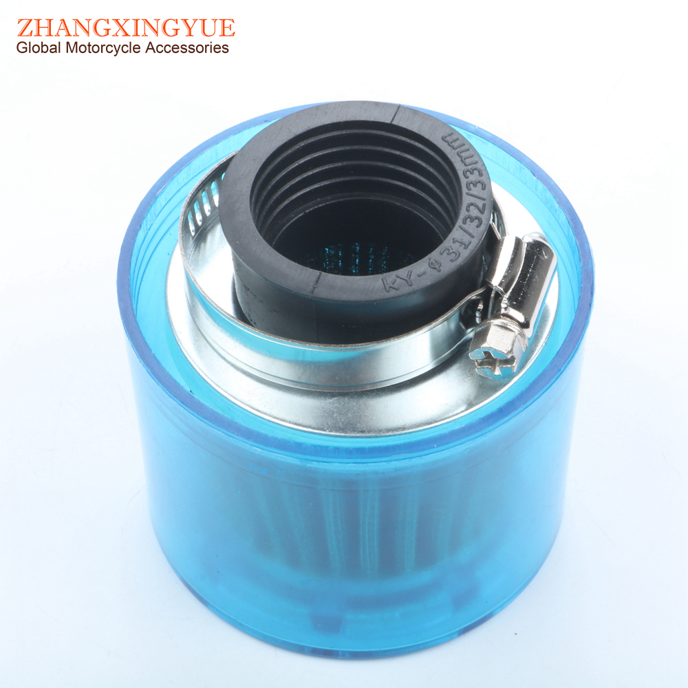 Atv Parts & Accessories Air Filter Air Box 35mm Straight For Shielded Cone Chinese Scooter 4 Stroke 50cc Blue