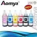 Aomya tinta baseada da tintura não oem conjunto de 6 tinta recarga kit 70 ml para epson l800 l801 printer cartucho de tinta no. t6731/2/3/4/5/6