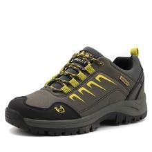 Новое поступление Треккинговые ботинки Для мужчин открытый Спортивная обувь осень-зима Альпинизм Обувь кожа Удобная походная Охота Сапоги и ботинки для девочек