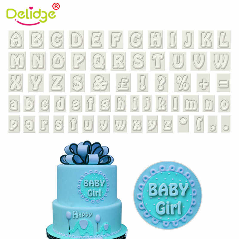 64 Characters Upper Lower Case Alphabet Letters For Fondant Tool Baking Cake Mold Plastic Cookie Cutter Set Paw Print Mould