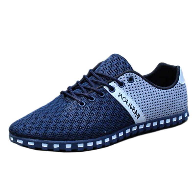 2016 Summer Style Men Shoes Breathable Mesh Shoes Outdoor Walking Shoe Comfortable Mens Casual Shoes Plus