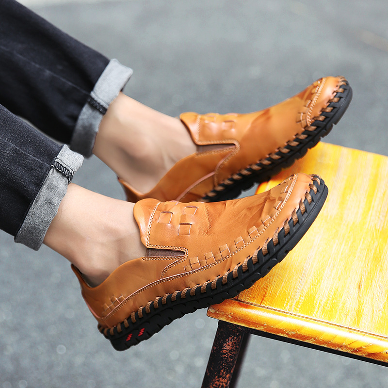 Fashion Genuine Leather Men 39 s Shoes Casual Big Size 38 46 Handmade Italy Design Driving Shoes Men Flat Footwear in Men 39 s Casual Shoes from Shoes