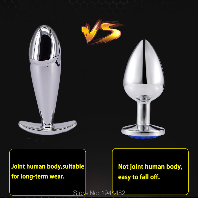 3 94 39 39 Outdoor Butt Plug Metal Anal Plug Sex Toys with Crystal Jewelry Joint Body Suitable for Long term Wear for Women and Men in Anal Sex Toys from Beauty amp Health