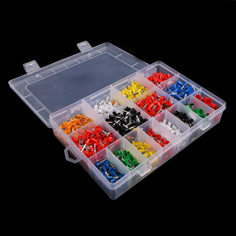 NEW 2120 Pcs Insulated Cord Pin End Terminal Bootlace Ferrules Kit Set Wire Copper  H15 wholesal e1008 insulated cable cord end bootlace ferrule terminals tubular wire connector for 1 0mm2 wire 1000pcs