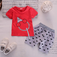 baby boy girl shorts suit clothes  kids 2019 summer set infant clothing cartoon mouse printed