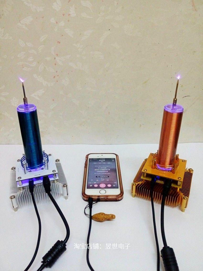 Musique Tesla bobine Plasma haut-parleur sans fil Transmission son solide
