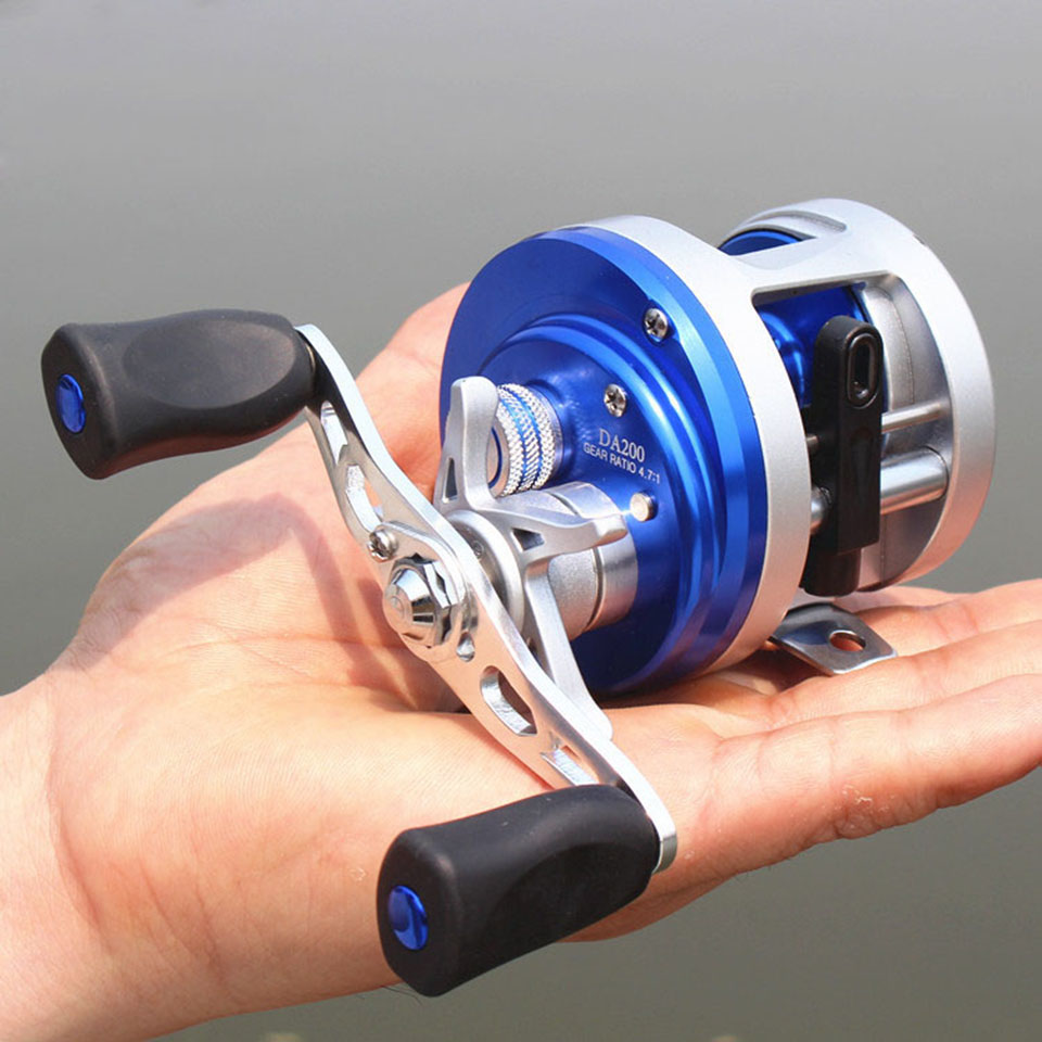 Left Right Hand Cast Drum Wheel 11+1BB 4.7:1 Fishing Reel Bait Casting Reel Metal Surfcasting Trolling Sea Baitcasting DA trolling reel 9 1bb drum wheel carp baitcasting reels centrifugal brake casting saltwater fishing reel super power drag 30kg