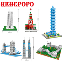 872 1719 PCS World Famous Architectures Series Of Tiniest Building Block Diamond Assembled Big Size Mini