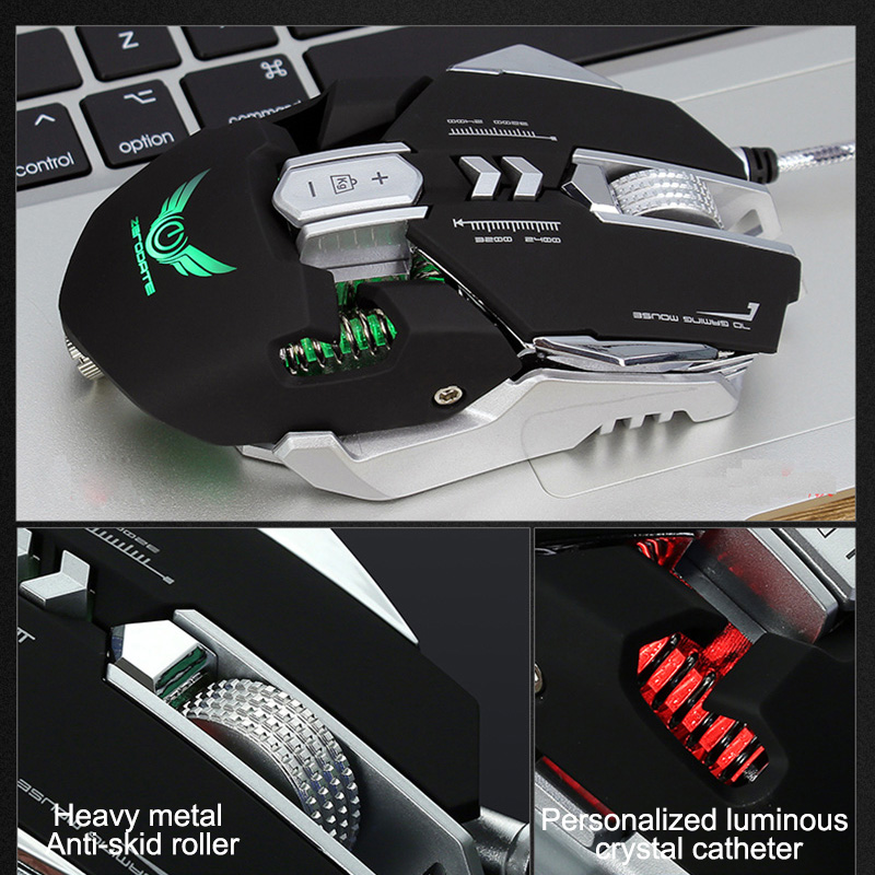G9 Gaming Mouse Wired USB DPI Adjustable Macro Programmable Mouse Gamer Optical Professional RGB Mause Game