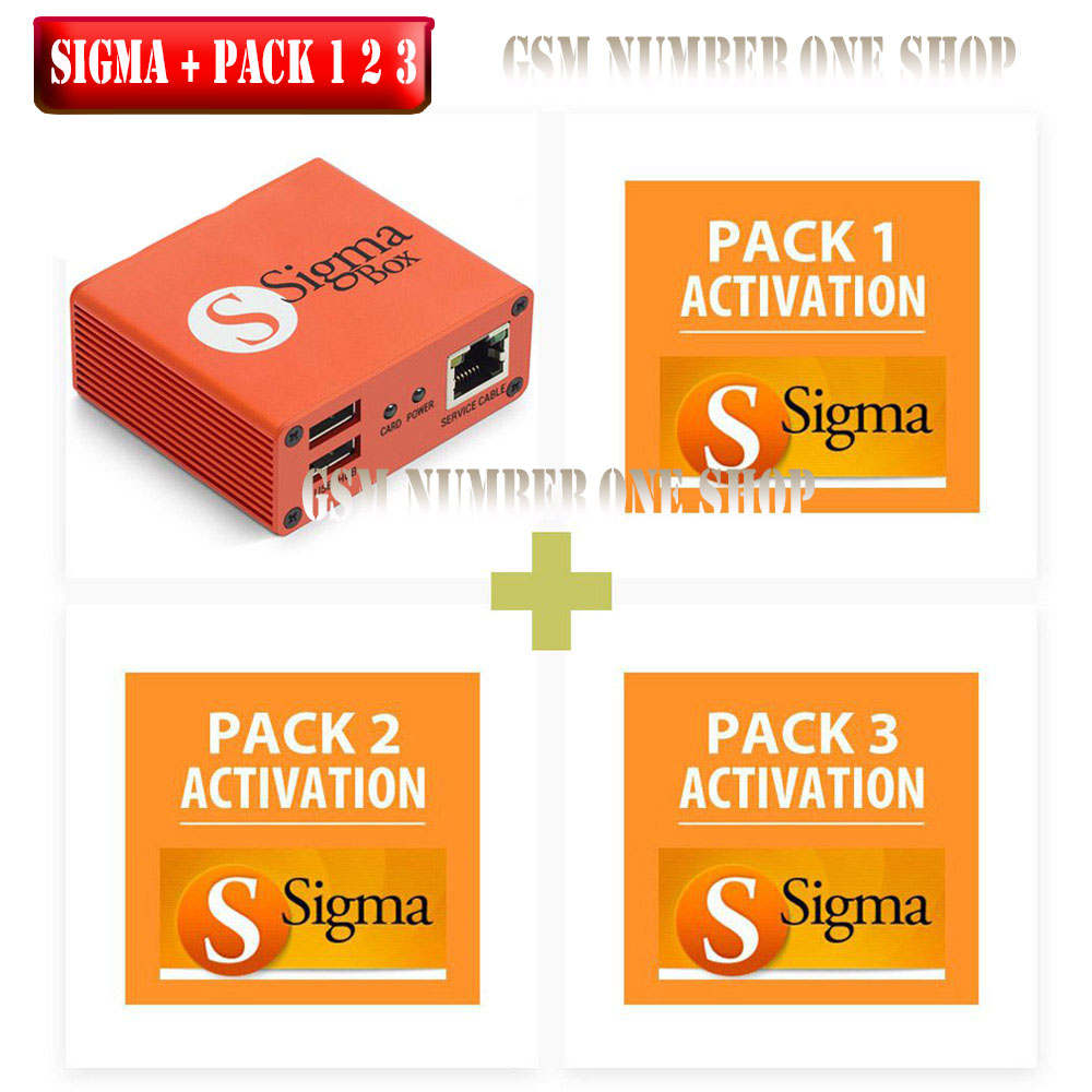2019 Version Original Sigma Box With 9 Cable Set + Sigma Pack 1, 2, 3 Activations