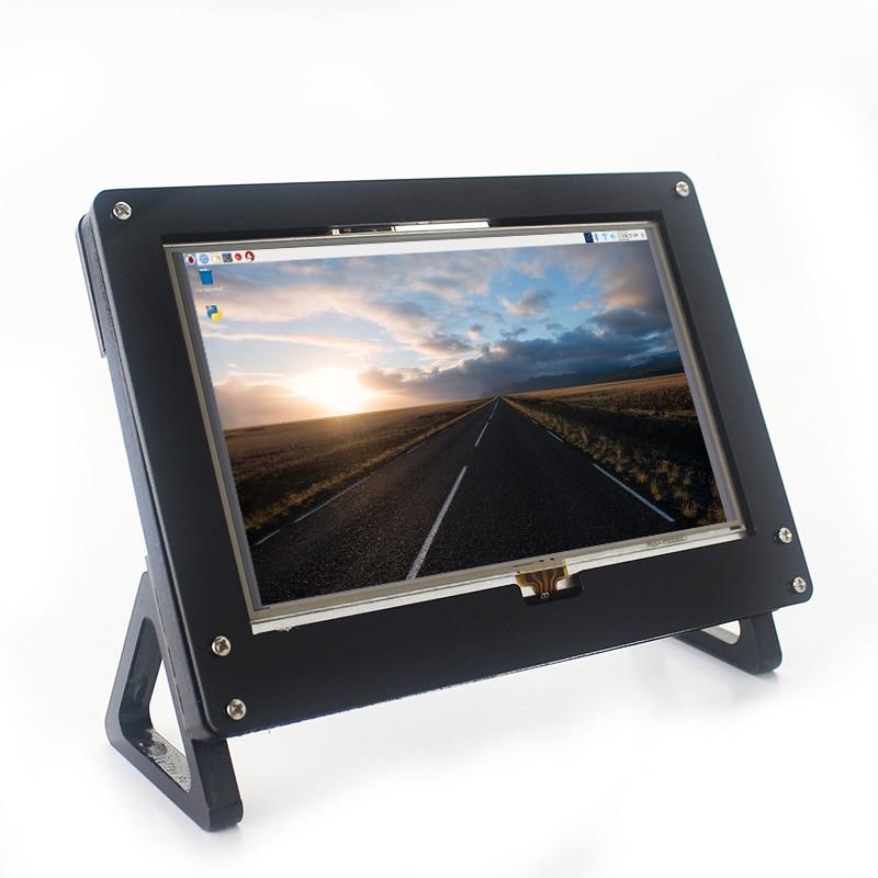 Raspberry Pi 3 LCD 5 Inch HDMI Touch Screen 800*480 Display With Acrylic Case Bracket For Raspberry Pi 3 Model B 3B Plus