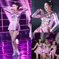 Jazz dance clothes Korean hit song clothes adult female sequined costumes DS nightclub Slim sexy new stage suit