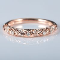 Книги по искусству деко Твердые 10 К розовое золото природных алмазов Для женщин Engagment кольцо обручальное кольцо