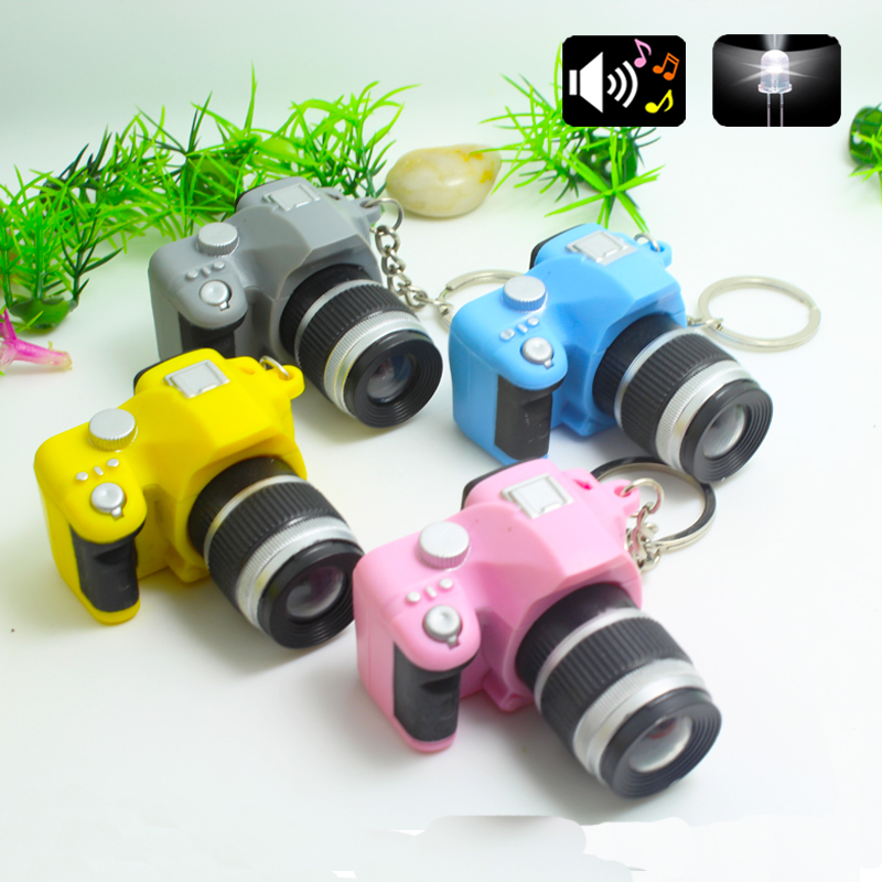 2016 LED Cameras Car Key Chains Toys Sound Glowing Pendant Doll Gifts Cameras Light Up Toys Gift Men Women Souvenirs
