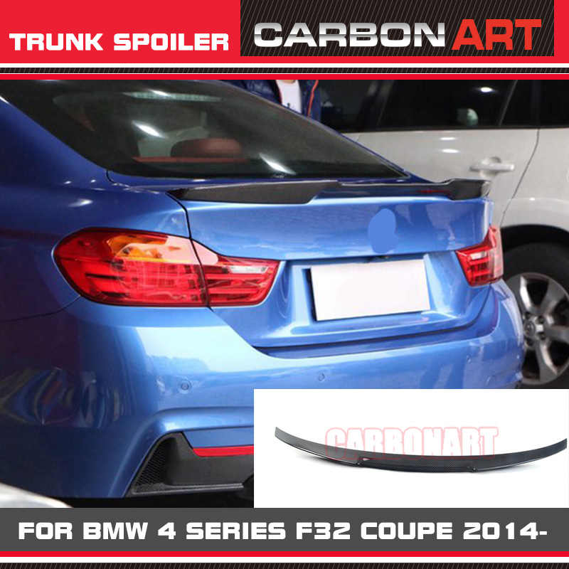 Carbon Fiber Rear Wing Rear Spoiler For BMW 4 Series F32  Auto Tuning Trunk Parts M4 Design Performance Coupe Only 2014+ vw replacement genuine carbon fiber rear trunk spoiler wing back rear spoiler for volkswagen passat 2011 2015 car styling